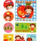 San-X Japan Apple Hoppe Sticker Sheet 2003 Kawaii