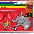 Q-Lia Japan Sunday Pocket Letter Set with Stickers Kawaii