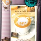 Kamio Japan Bear's Cafe Time Letter Set Kawaii