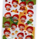 Sanrio Japan Hello Kitty Little Red Riding Hood Epoxy Sticker Sheet 2010 Kawaii