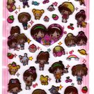 Q-Lia Japan Peach Mint Candy Gel Sticker Sheet Kawaii