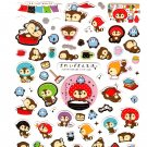 San-X Japan Kireizukin Seikatu Cleaning Raccoon Sticker Sheet (A) 2009 Kawaii