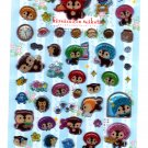 San-X Japan Kireizukin Seikatu Cleaning Raccoon Candy Gel Sticker Sheet 2010 Kawaii
