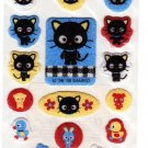 Sanrio Japan Chococat and Friends Fuzzy Sticker Sheet 1999 Kawaii