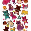 Kamio Japan Very Sweet Animals Epoxy Sticker Sheet Kawaii