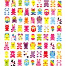 Kamio Japan Lots of Animals Sticker Sheet Kawaii