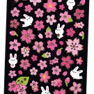 Crux Japan Rabbit and Sakura Sticker Sheet Kawaii