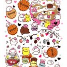 San-X Japan Malu Malo Marshmallow Sticker Sheet 2011 Kawaii