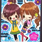Crux Japan Happy Girlish Days Memo Pad with Stickers Kawaii