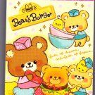 Crux Japan Bear's Burger Mini Memo Pad Kawaii