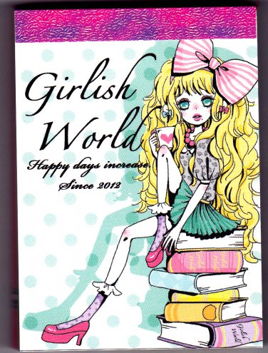 Kamio Japan Girlish World Mini Memo Pad Kawaii