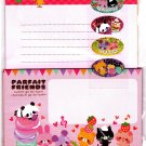 Parfait Friends Letter Set with Stickers Kawaii