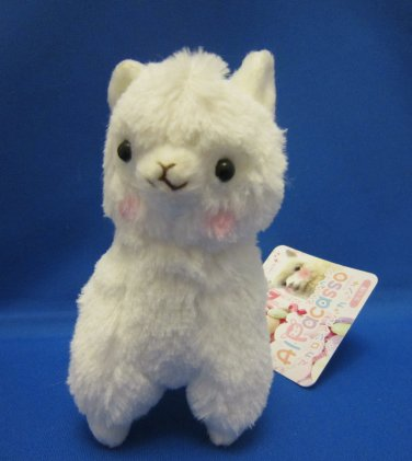 Amuse Japan White Alpacasso Plush Keychain Strap Kawaii
