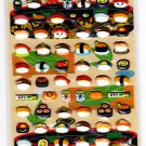 Crux Japan Yummy Food Sushi Puffy Sticker Sheet Kawaii