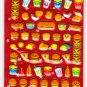 Crux Japan Yummy Food Burger Puffy Sticker Sheet Kawaii