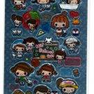 Crux Japan Hi! School Girl 2 in 1 Sticker Sheet Kawaii