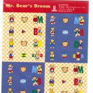 Sanrio Japan Mr. Bear's Dream Sticker Sheet 1996 Kawaii
