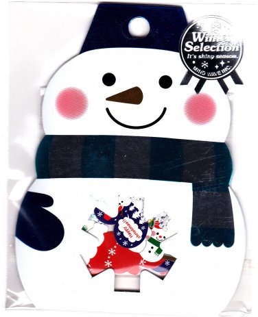 Mind Wave Japan Winter Selection Snowman Sticker Sack Kawaii