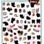 San-X Japan Kutusita Nyanko Micro Schedule Stickers 2 Sheets 2011 Kawaii