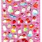 Q-Lia Japan Photo Beans Cute Hamsters Puffy Sticker Sheet Kawaii