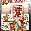 Kamio Japan Marron Marron Bear Letter Set Kawaii