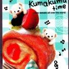 Q-Lia Japan Kumakuma Time Mini Memo Pad Kawaii