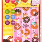 Crinos Japan Smiley Doughnuts Letter Set with Stickers Kawaii