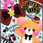 Fortissimo Japan Bears Party Memo Pad with Stickers Kawaii