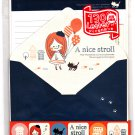 Crux Japan A Nice Stroll Letter Set with Stickers Kawaii
