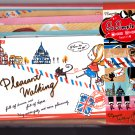Crux Japan Pleasant Walking Letter Set with Stickers Kawaii