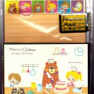 Kamio Japan Merry Children Letter Set with Stickers Kawaii
