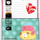 Kamio Japan Dan Dan Animals Letter Set with Stickers Kawaii
