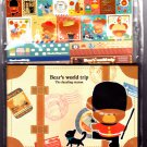 Kamio Japan Bear's World Trip Letter Set with Stickers Kawaii