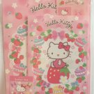 Sanrio Japan Hello Kitty and Strawberries Letter Set with Stickers 2013 Kawaii