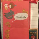 Kamio Japan Little Red Story Letter Set with Card Kawaii