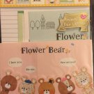 Crux Japan Flower Bear Letter Set with Stickers Kawaii