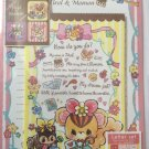 Daiso Japan Tirol & Momon Letter Set w/Stickers Kawaii