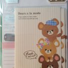 Mind Wave Japan Bears A La Mode Letter Set with Stickers Kawaii