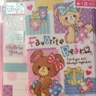 Mind Wave Japan Favorite Bear Letter Set with Stickers Kawaii