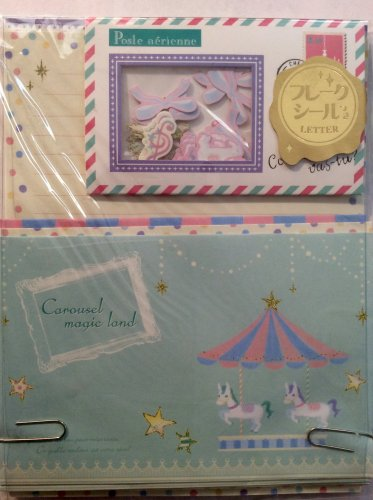 Q-Lia Japan Carousel Magic Land Letter Set with Sticker Flakes Kawaii