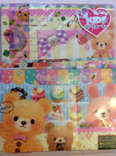 Q-Lia Japan Maple Cafe Letter Set Kawaii