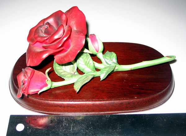 1985 Homco MASTERPIECE PORCELAIN Bone China Red Rose
