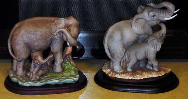 Homco Masterpiece Elephants - Asian & African