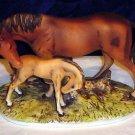 HOMCO Home Interiors 1979 RARE Masterpiece Horse & Foal