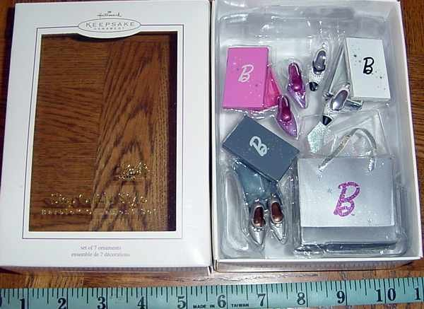 Hallmark 2005 BARBIE Step Out in Style Set of 7 Ornaments