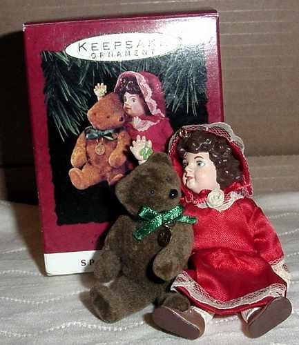 Hallmark Doll & Teddy Bear Ornaments - All 3 - MIB