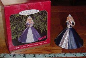 Hallmark ~ 1999 � Barbie as the Millennium Princess Ornament