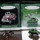 Entire Set of Hallmark Kiddie Car Luxury Edition Miniature Ornaments