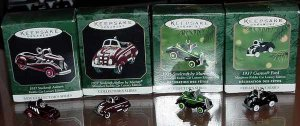 Entire Set of Hallmark Kiddie Car Luxury Edition Miniature Ornaments
