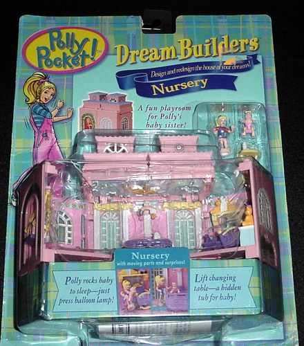 Polly Pocket 1999 Dream Builders Nursery - Mint on Card